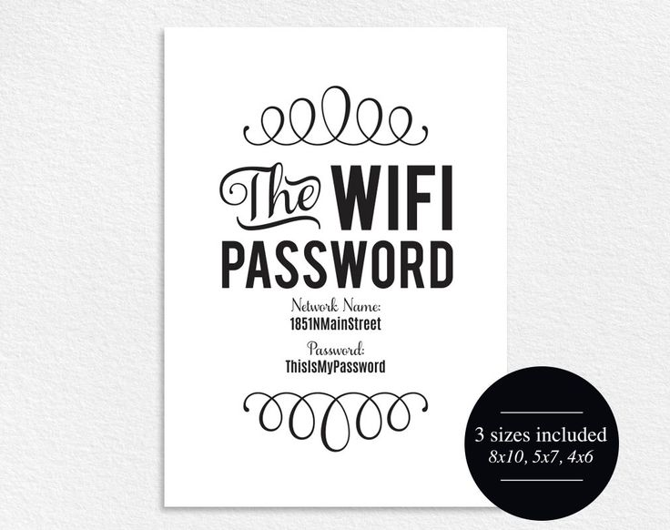 WIFI Password Sign, Wifi password printable, internet sign, Be our Guest Sign, Guest Wifi, Guest Room Sign, PDF Instant Download #BPB112 by BlissPaperBoutique on Etsy https://www.etsy.com/listing/243575721/wifi-password-sign-wifi-password