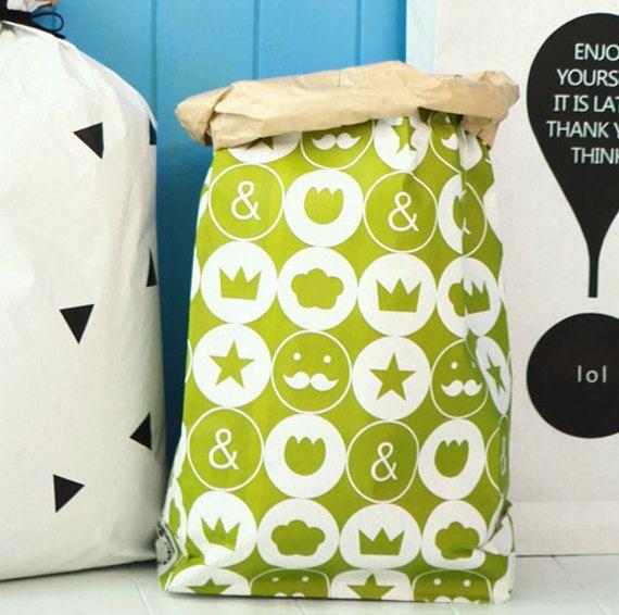 Kraft papieren zak Jackpot / papieren zak opslag door Twomysterybox