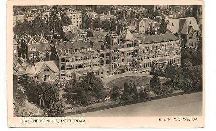 Diaconesse ziekenhuis aan de westersingel 1909
