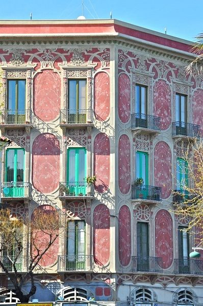 Palazzo Rosa dell'architetto Fabio Maiorana in via VI Aprile, #Catania  #visitsicily #liberty #art