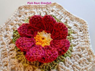 pink rose crochet blog: Pink Roses, Hook, Pattern, Motif Floral, Rose Crochet, Quaver