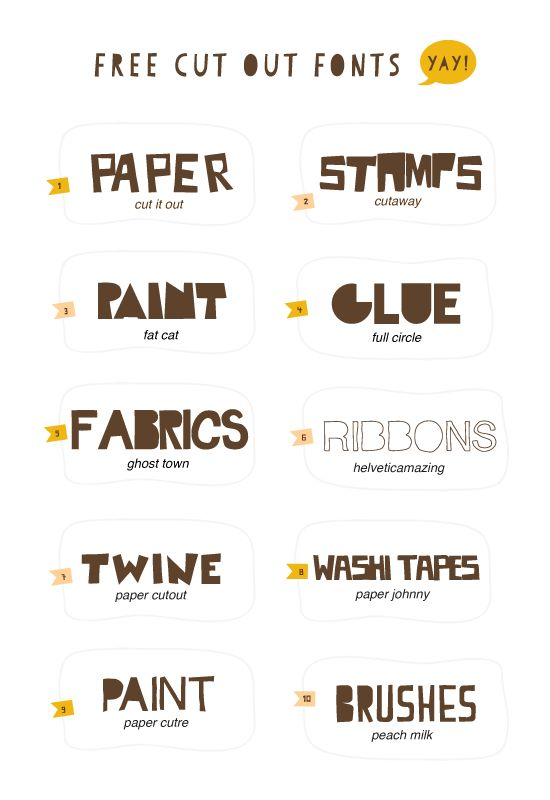 Free cut out fonts! Good Crafternoon ;)