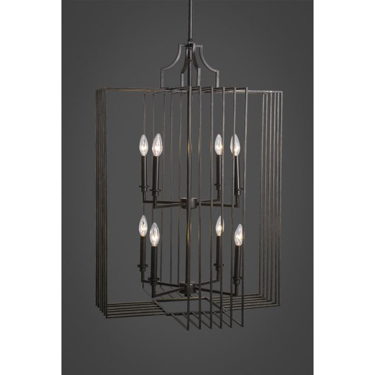 Toltec Lighting 1108-DG Sky Loft 8 Light Chandelier in Dark Granite Finish  sc 1 st  Pinterest & 565 best FOYER LIGHTING images on Pinterest | Homes Foyer ... azcodes.com