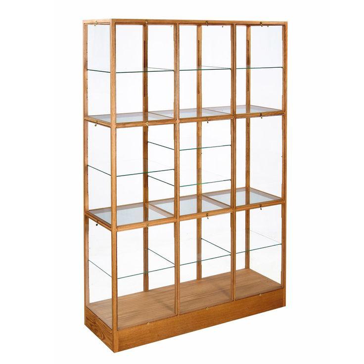 Oak Display Cabinet - 3 Column
