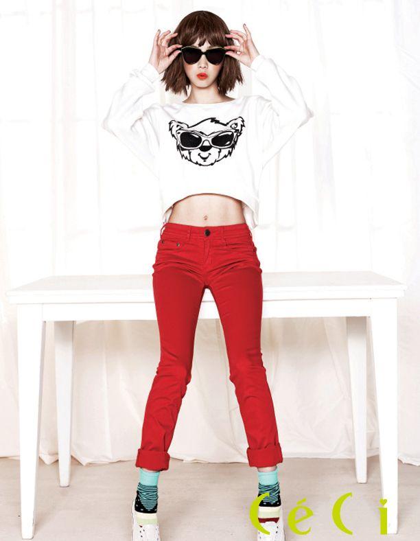 Yoon Seung Ah CéCi Korea Magazine April Issue '12
