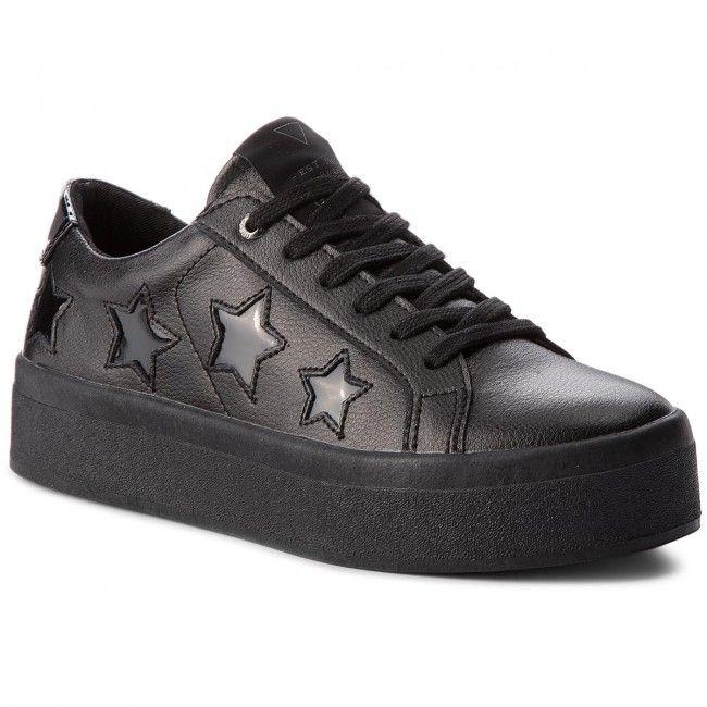 Sneakersy Guess Flfhs3 Lea12 Black Black Sneakers Converse Sneaker