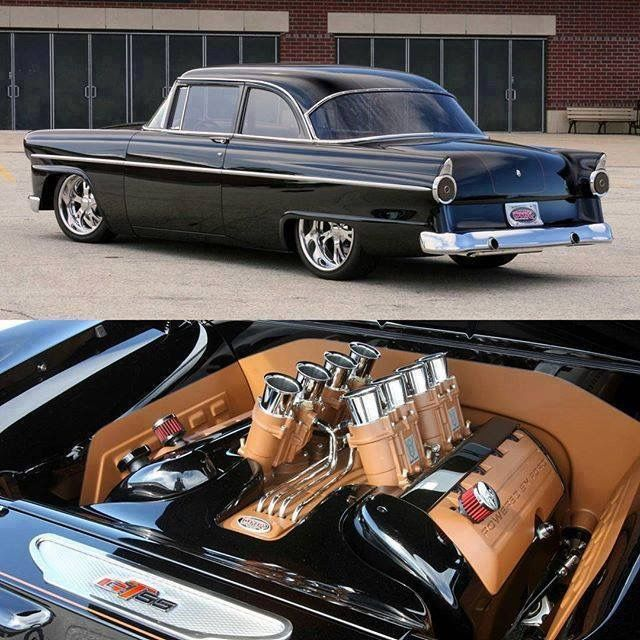Sussex Rod And Custom Built 55 Ford Powered By A New Coyote With Some Sweet Trumpeted Intakes