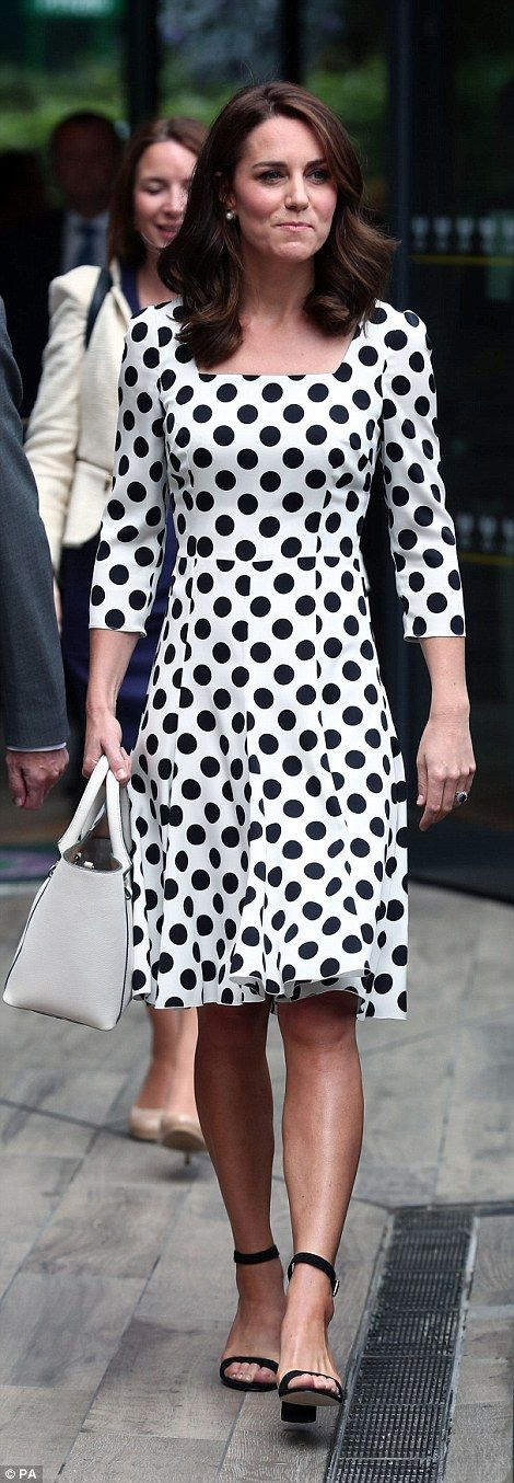 Her usual clutch bag was also left at home with the royal opting for a white tote instead