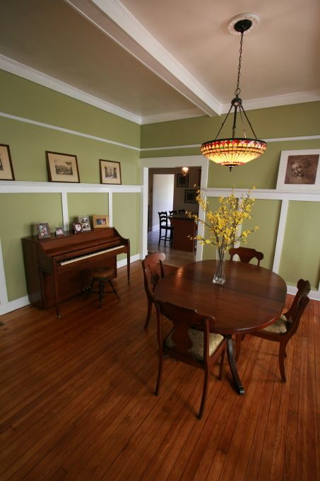 Craftsman Dining in 1920s Bungalow, Taking a fresh approach to a midtown bungalow dining room in Atlanta. And, combining old with new., Dini...