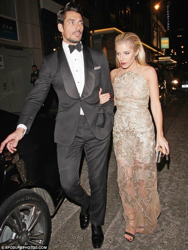 Keeping close: Mollie King was pictured arriving with boyfriend David Gandy at the British Fashion Awards on Monday evening