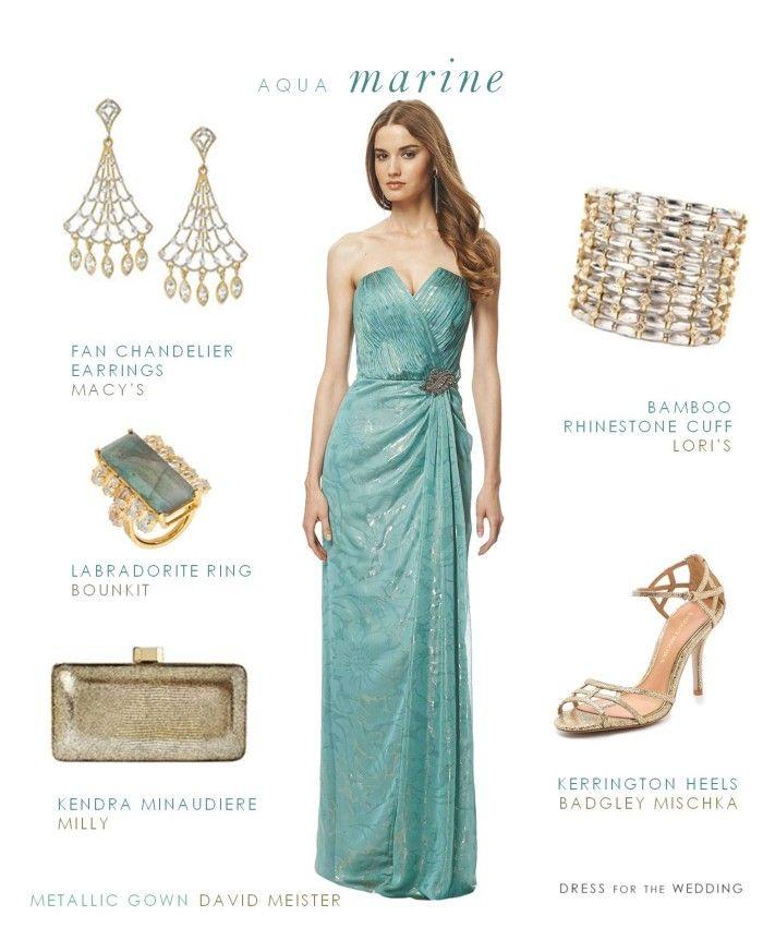 Aquamarine Evening Gown For A Black Tie Wedding