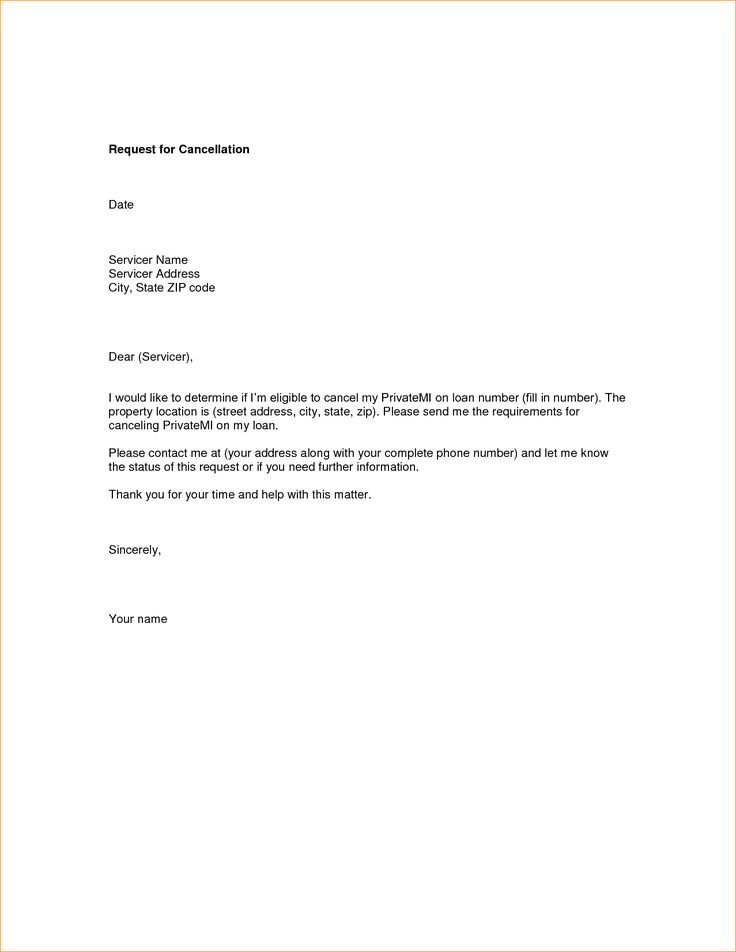 cancellation request letter sample every bit life house insurance