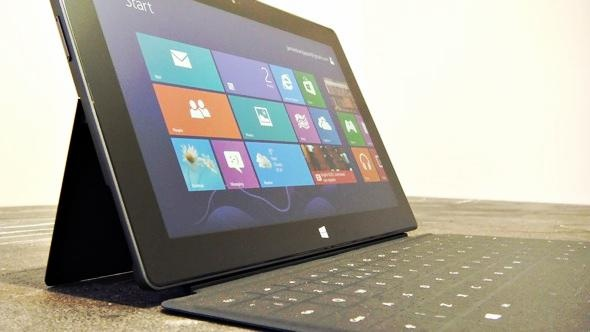 "We're giving away this brand new Microsoft Surface. The code for the giveaway is ""surface"" in case you want to join!"