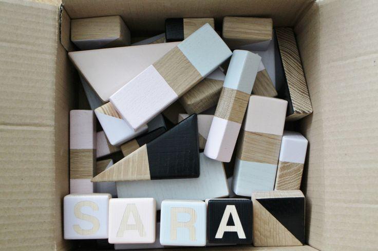 handmade wooden blocks by manufaktura miło / drewniane, ręcznie robione, malowane klocki dla dzieci  www.manufakturamilo.pl