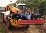 Diggerland, near Leeds. An adventure park where children and adults can drive real diggers and so much more.