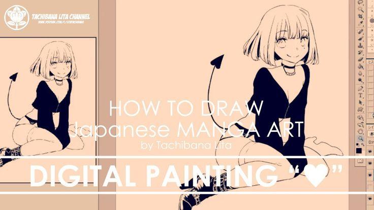 "✔ Digital Painting  ""♥""   How to draw Manga Art 2018.01.28"