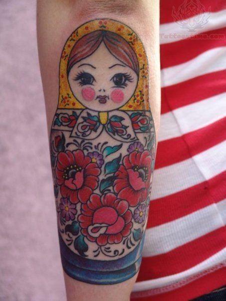 Matryoshka Doll Tattoo On Back Arm