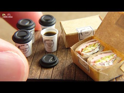 Miniature Coffee & sandwich DIY - Petit Palm - YouTube