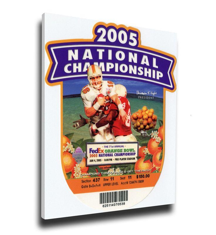 USC Trojans Wall Art - 2005 Orange Bowl BCS National Championship Game Canvas Mega Ticket