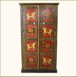 Eustis Solid Wood Heritage Style Hand Painted Armoire Closet