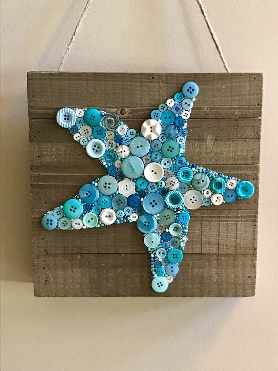 Button Starfish Button Art Starfish Button Art Button