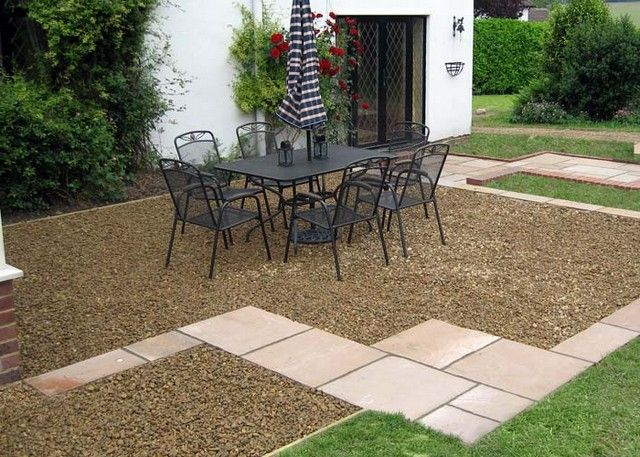 Gravel patio ideas google search home pinterest for Cheap garden patio ideas