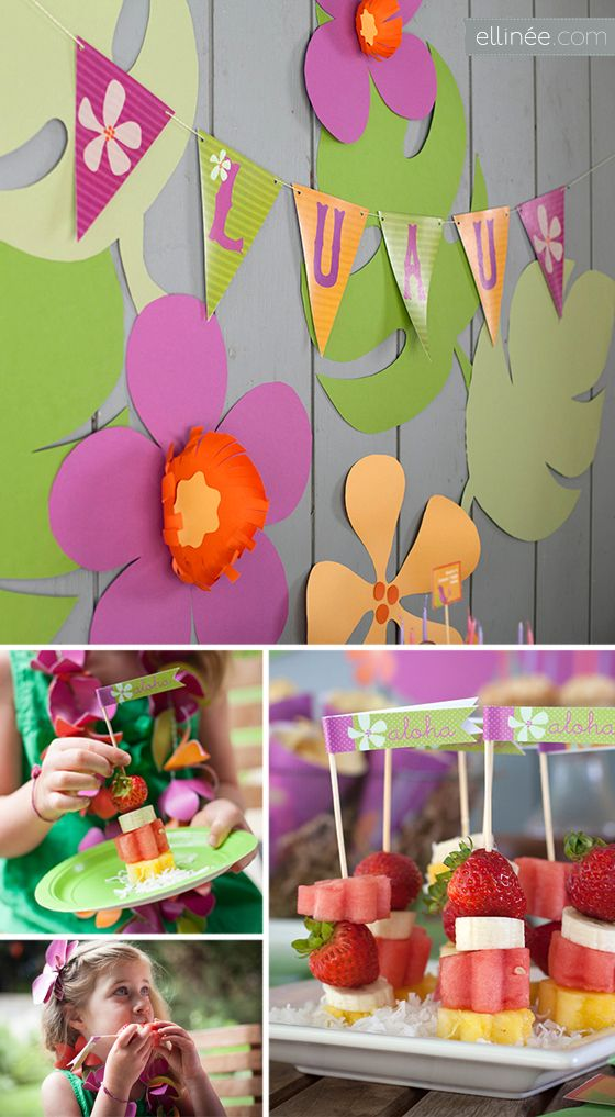 Diy Luau Party Decorations Great Themed Ideas Plus Free Printables If I Only Found This A Year Ago