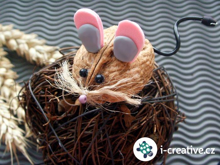 Jak vyrobit myšky z vlašských ořechů