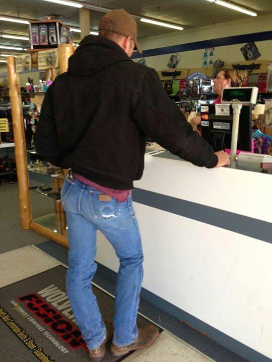 big jeans Boys butt