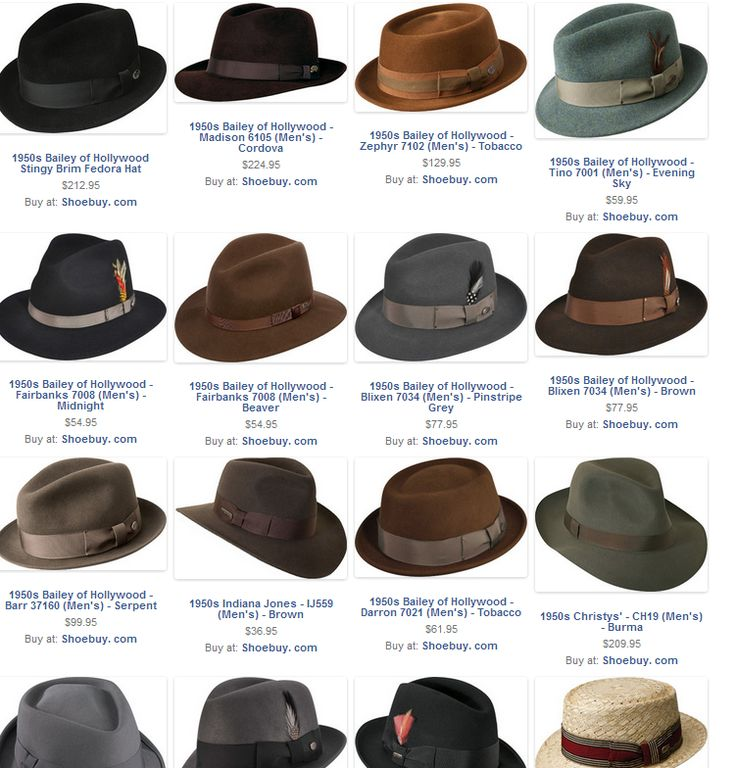 Men's Hat Styles in the 1950s | Fashion : Ah-Men ...