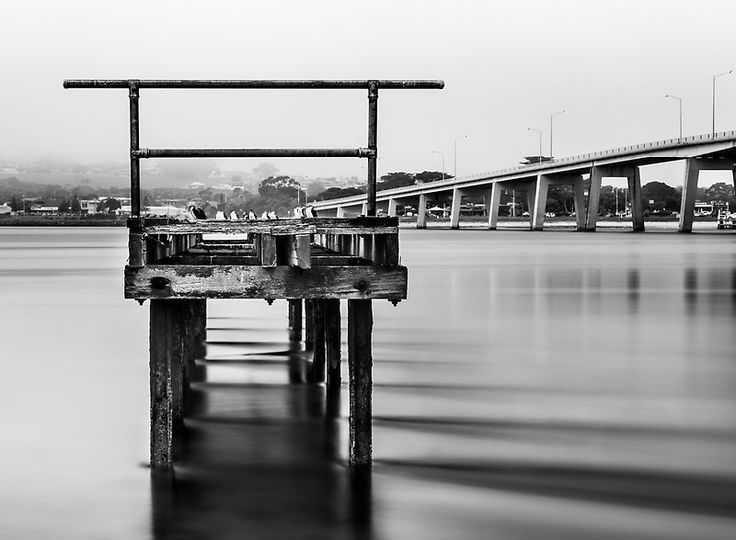 Long exposure, beautiful, natural, bridge, jetty, black and white, Phillip Island, Piers Buxton, ocean pic, Phillip Island