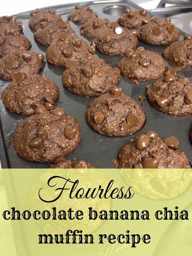 Flourless Chocolate Banana Chia Muffin Recipe