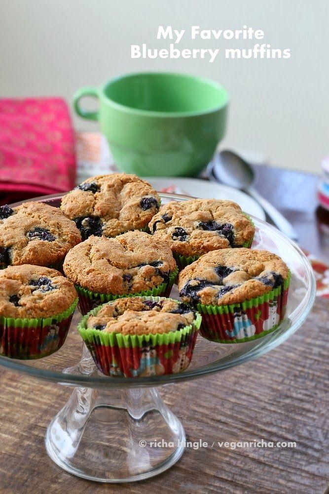 Spelt Almond Blueberry Muffins Vegan Recipe - Vegan Richa