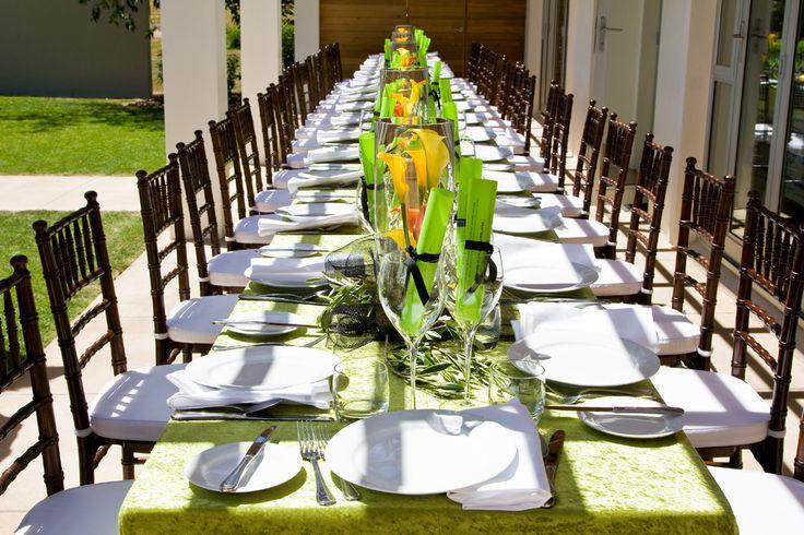 Long Table Chiavari Setting