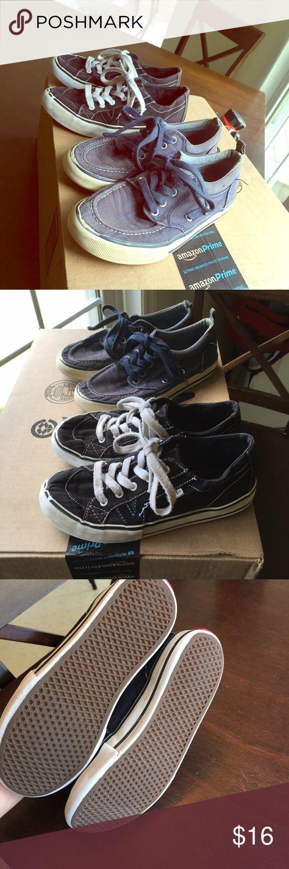 Kids black Vans Vans shoes size 13.5, normal wear and tear but still plenty of use left. Vans Shoes