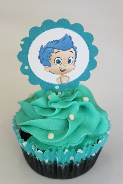 Bubble Guppies Cupcake by lydiabakes, via Flickr