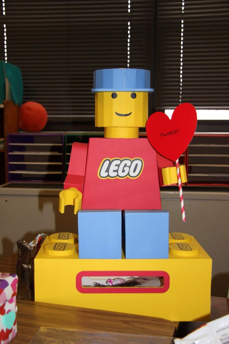 Foam board craft ideas - Lego Valentine Box My Husband Made For Our Son Made Out Of Foam Board From The Dollar Store