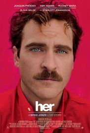 Directed by Spike Jonze. With Joaquin Phoenix, Amy Adams, Scarlett Johansson. Theodore a lonely man in the final stages of his divorce decides to purchase the new OS1, the world's first artificially intelligent operating system. He quickly finds himself drawn to Samantha, the voice behind his OS1. As they spend time together they grow closer and eventually fall in love. Being in love with his OS, Theodore finds himself dealing with feelings of both great joy and doubt.