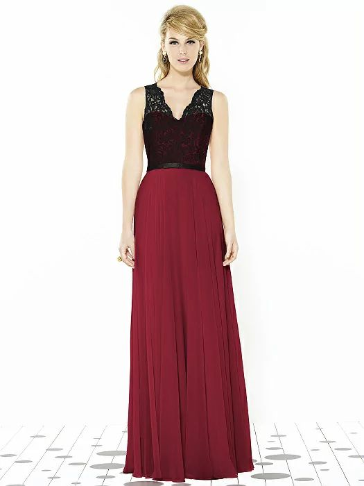 After Six Bridesmaids Style 6715 http://www.dessy.com/dresses/bridesmaid/6715/?color=burgundy&colorid=8#.VsJUSvkrJhE