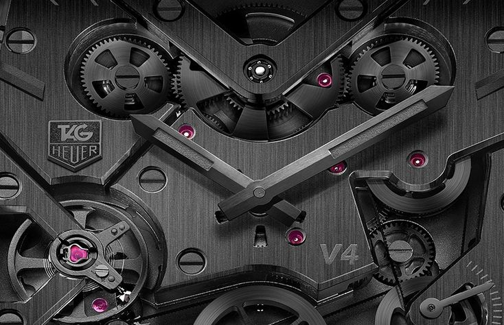 Limited edition TAG Heuer Monaco V4 Phantom watch announced, features full black carbon composite case
