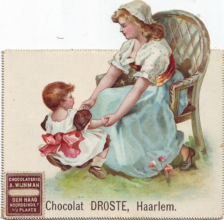 chocolat droste girl bouncing small child on her knee | par patrick.marks