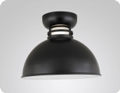 Vary up your industrial and barn light needs with the Self Ballasted Flush Deep Bowl Shade. The Self Ballasted Flush Deep Bowl Shade is available for flush mount only. Flush mounts are great for utilizing in interior and outdoor designs: patios, eaves and covered walkways. As with all of our industrial barn lights, fixture and glass colors can be modified per specifications. Optional accessories include a wireguard, and a number of acryllic layers. Also available in fluorescent and LED.