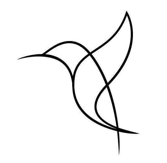 Dessin tattoo oiseau stylise - Tatouage femme