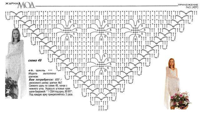 № THREE  - SPIDER pattern - classical                    variant   \ white shawl