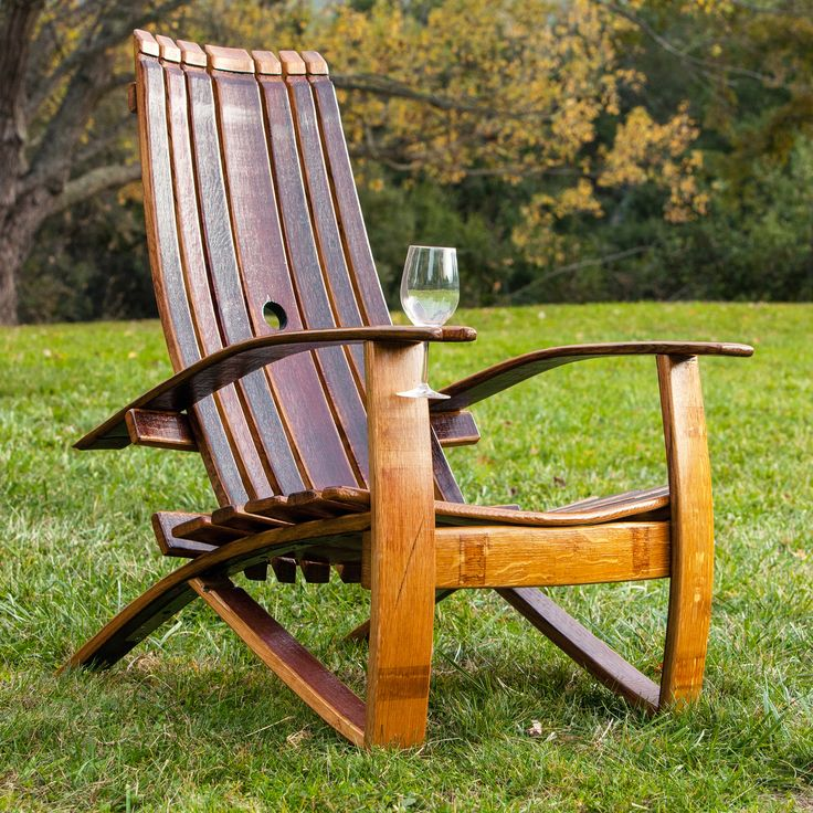 Wine barrel adirondack chair chairs pinterest wine for Wine barrel chair diy