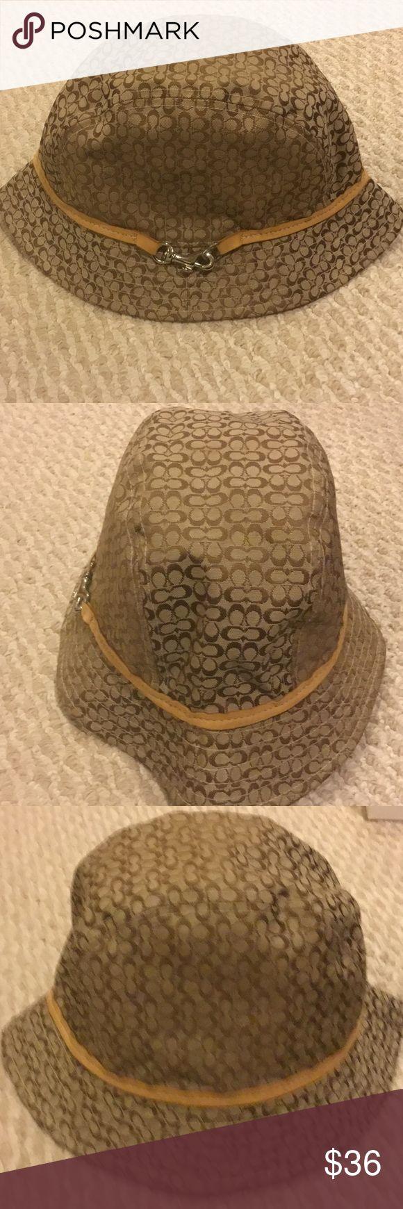 Coach Hat Coach hat with leather trim.  Size M/L Coach Accessories Hats