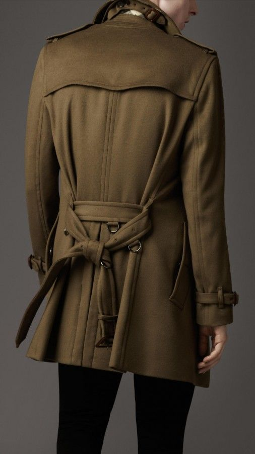 The back of the Burberry London mens wool trench coat 2