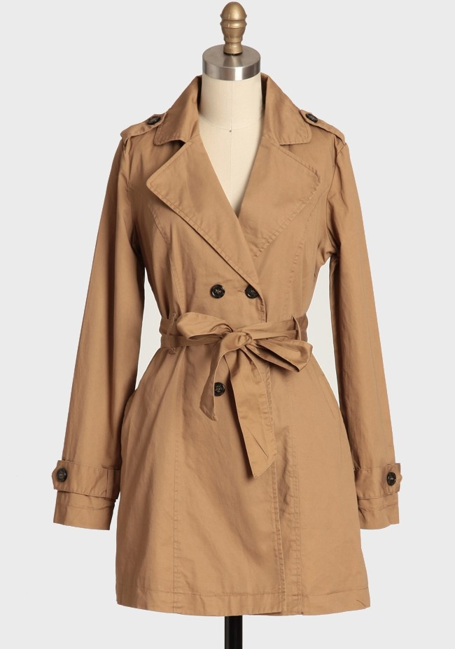 Classic trench coat- any color works, I prefer a shade of beige personally but any neutral color works...or go for a bold statement piece. your choice :)