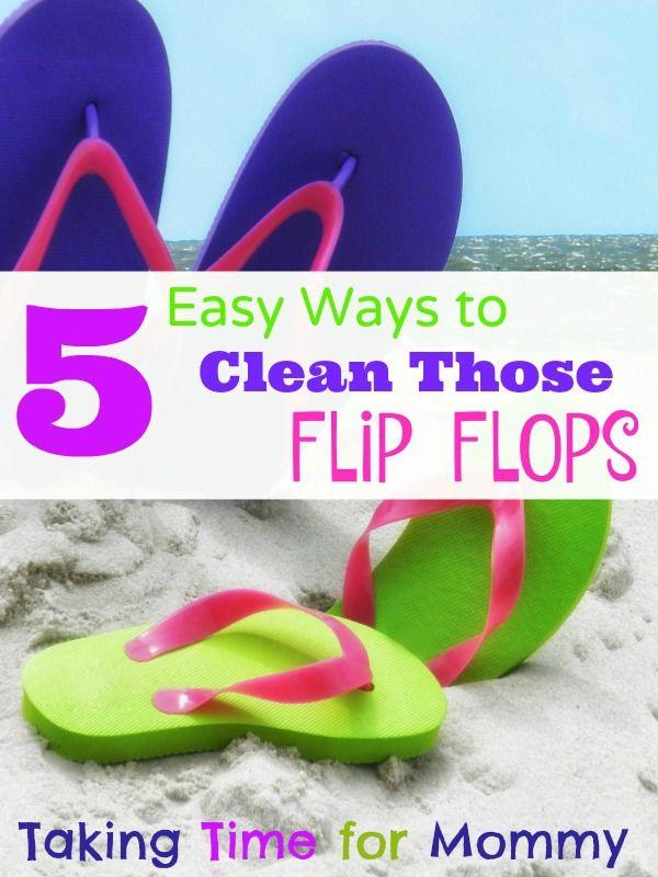 5 Ways to Clean Flip Flops