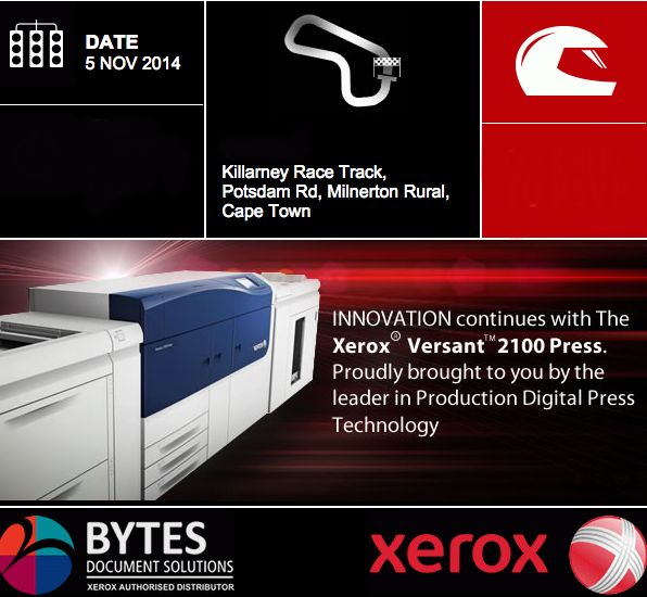Bytes Document Solutions launched the Xerox Versant 2100 in Cape Town last week at Killarney Race Track